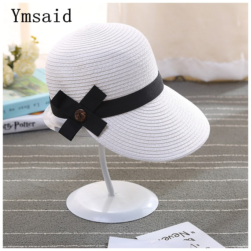 Equestrian Kentucky Derby Hats Visor Sobrero Sun Hats For Women Man Large Brim Straw Hat With Bow Summer Hat For Women Beach Cap