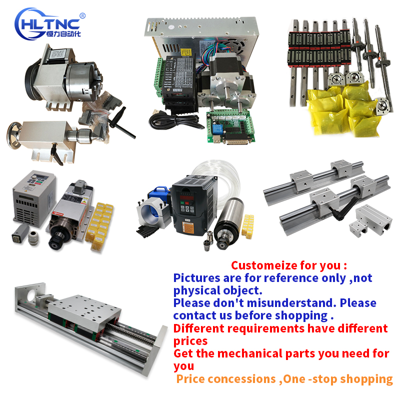 CNC Customization Module SFU1605 Ball Screw HGR20 Linear Guide Gear Rack Spindle Inverter For Engraving Machine Accessories