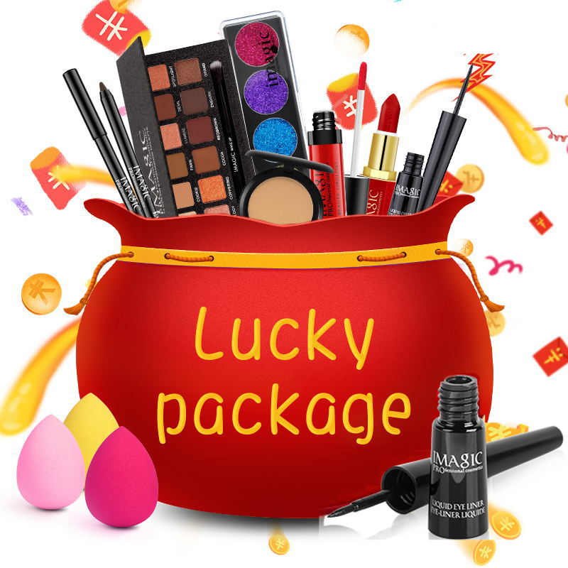 IMAGIC Makeup Set for sale as a lucky bag 1PCS with top quality products for eye shadow palette lip cosmetics gift set birthday