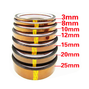 High Temperature Tape 100ft 3mm/8mm/10mm/12mm/15mm/20mm/25mm*33m Gold BGA Tape Thermal Insulation Tape Tape
