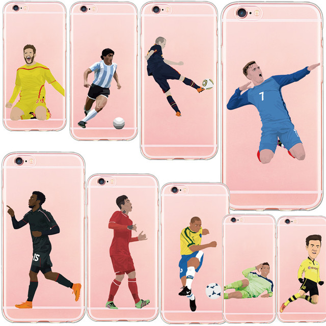 timeless design 75ed4 5596b US $2.99 |New Arrival Soft TPU Phone Cases For iphone 7 7Plus 8 8splus X  Famous Soccer Football Player Star Antoine Griezmann Cover-in Fitted Cases  ...