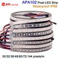 Wholesale APA102 IP68 waterproof underwater 30/32/36/48/60/72 leds/pixels/m ,led digital strip individual addressable DC5V