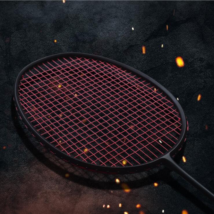 1 Pc FREE Shipping 30LBS Full Black VT80 Attack Badminton Rackets Candy Muti Color Badminton Racquets 4U 82G