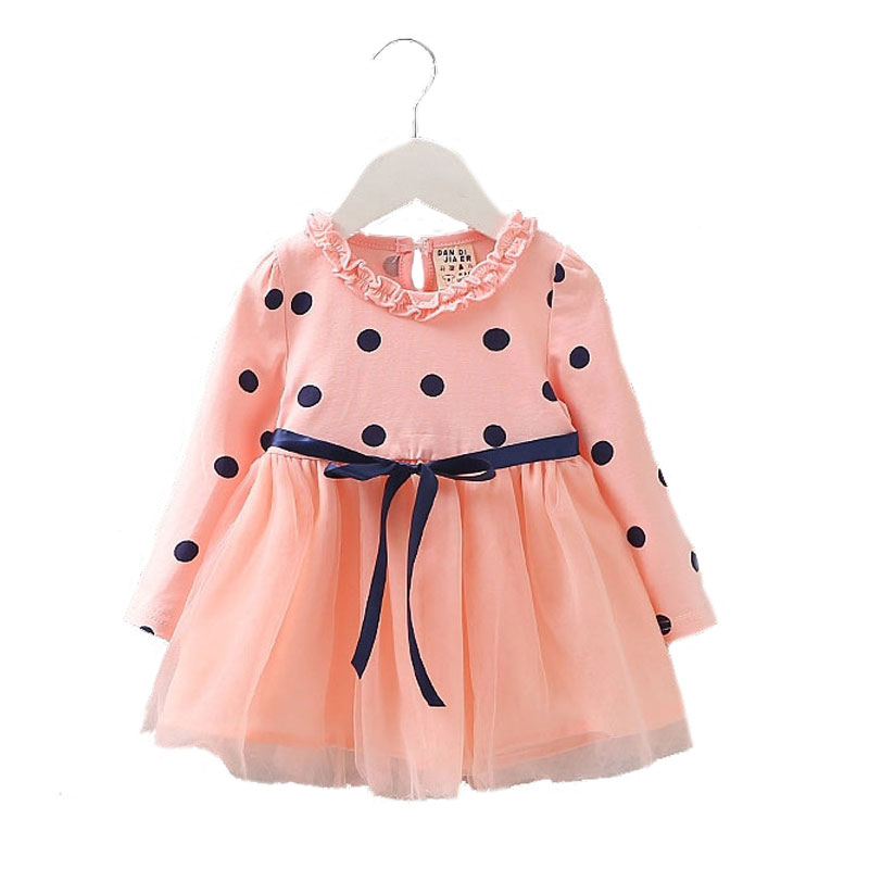 Newborn Baby Girl Summer Clothing Brand Long Sleeve Dress for Toddler Infant Baby Girl Clothes Party Princess Tutu Dresses Dress baby girl dress 2018 new brand princess infant party dresses for girls autumn kids tutu dress baby clothing toddler clothes