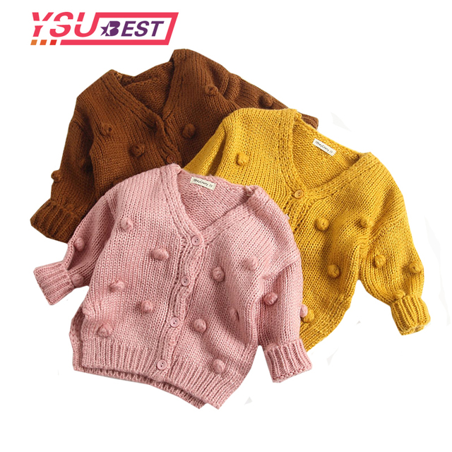 New Baby Boy Cardigan Trẻ Em của Mặc Áo Len Bé Gái Cotton Đan Áo Khoác Cardigan Cardigan Cô Gái Trẻ Em Thời Trang Áo Len Cardigan