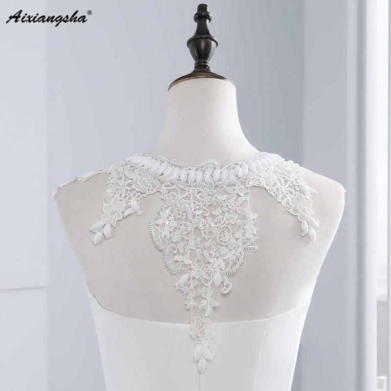 New Hot Selling Vestido de Noiva Casamento Robe De Mariage Scoop A-line lace Appliques Custom Made Wedding Dresses 6