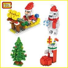 LOZ Building font b Blocks b font Santa Claus Christmas Stockings Christmas tree Polar Bear Christmas