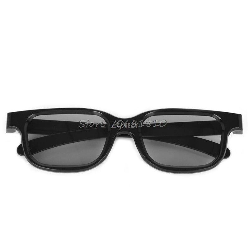 Hot Circular Polarized Passive 3D Stereo Glasses Black For