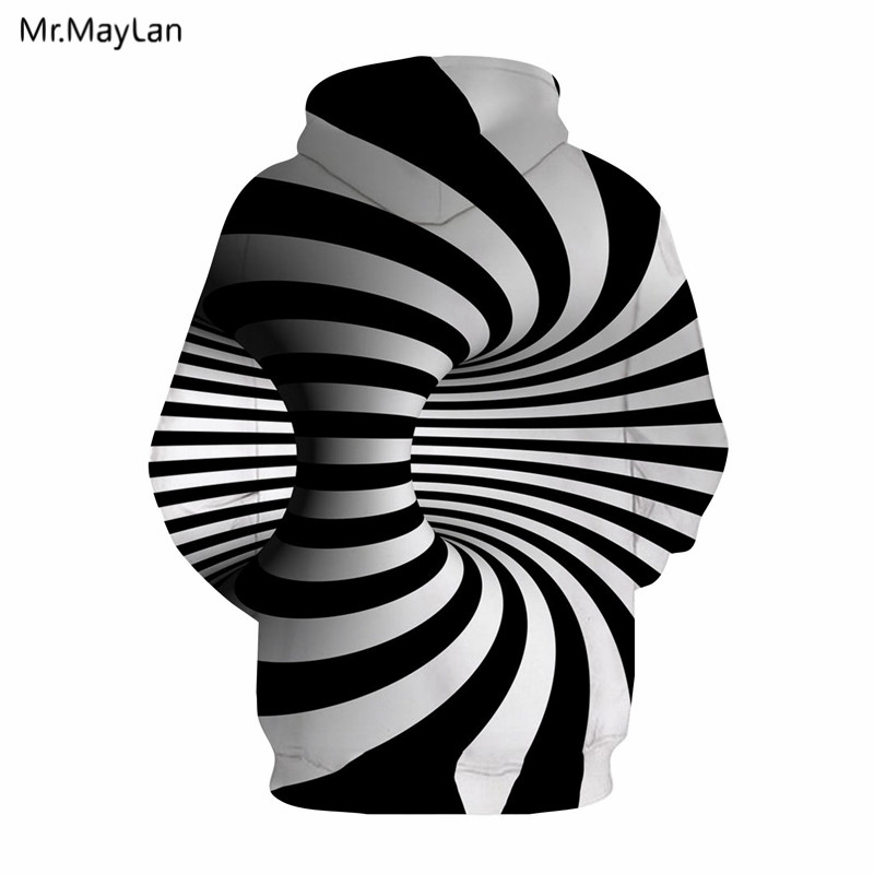 Hypnosis Vortex Black White Stripes 3D Print Hoodies Hat Sweatshirt Men Women Cool Jacket Hip Hop Tracksuit Streetwear Coat 5XL in Hoodies amp Sweatshirts from Men 39 s Clothing