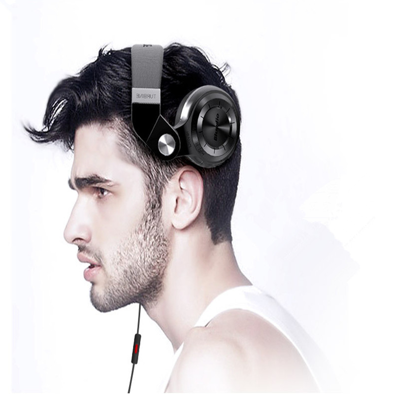 ФОТО T2+ Foldable Wireless Bluetooth BT4.1 Headphones Stereo Headsets Noise Cancelling Earphones with Mic FM & SD Card for Bluedio