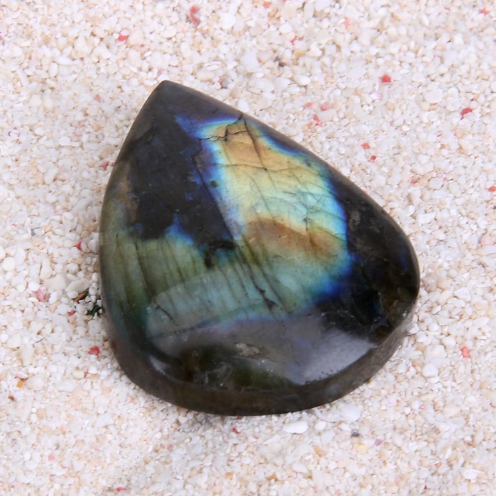 1ks přírodní kameny a minerály Křišťálový kapkovitý přívěsek ošetření Stone Love Rainbow Labradorit