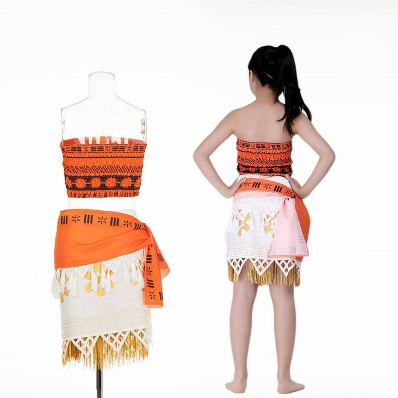Image 3 - Adult/child Moana Costume Movie Cosplay Princess Party Corset Skirt Belt Custom Made
