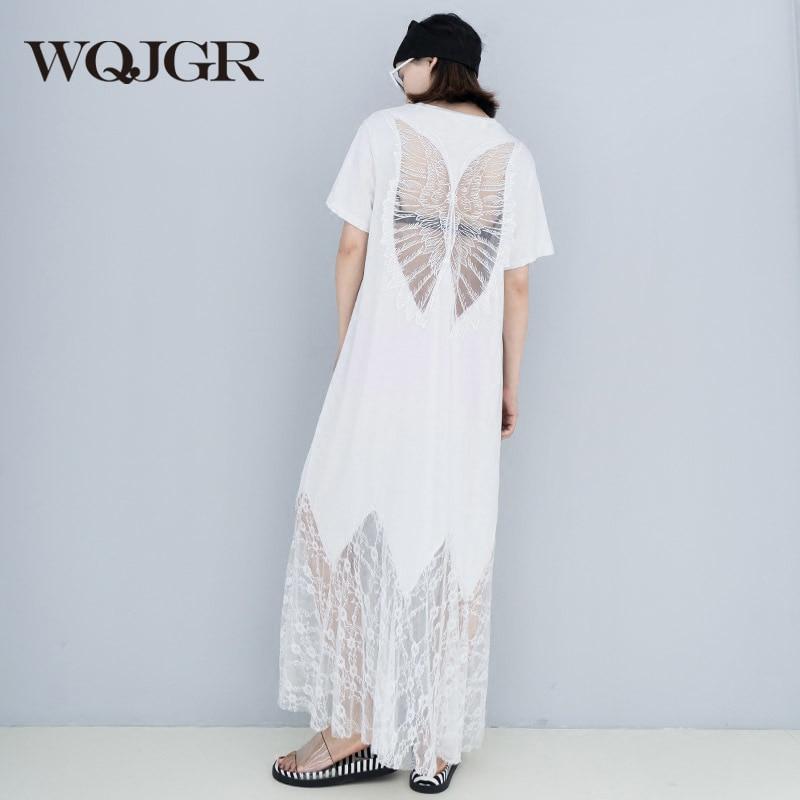 WQJGR ruha nyári nők 2018 új csipke padló hosszú hosszúszárú - Női ruházat