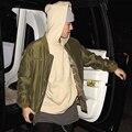 Invierno Justin Bieber Sudaderas Fleece Con Capucha Propósito Tour Temor De Dios Estrella de Rock Sudadera Parejas Moda Abrigos