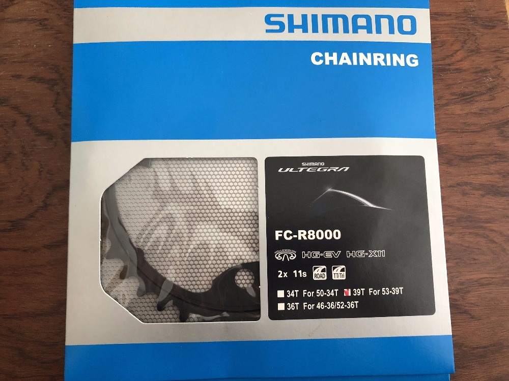 <font><b>SHIMANO</b></font> <font><b>Ultegra</b></font> FC-<font><b>R8000</b></font> chainring road bicycle 11s chain ring bike <font><b>crankset</b></font> <font><b>R8000</b></font> 34T 36T 39T 46T 50T 52T 53T image