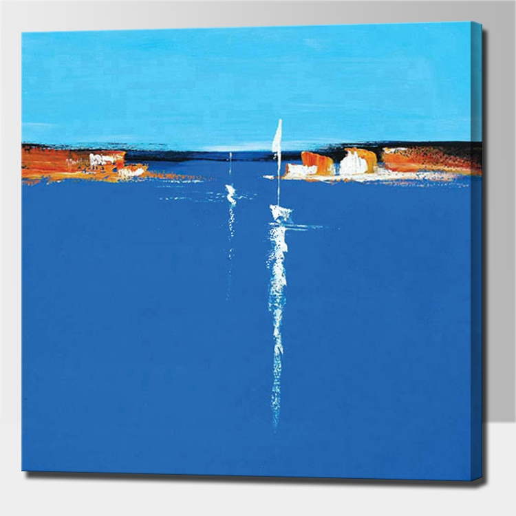 simple abstract paintings aliexpresscom buy blue abstract seascape oil paintings hand