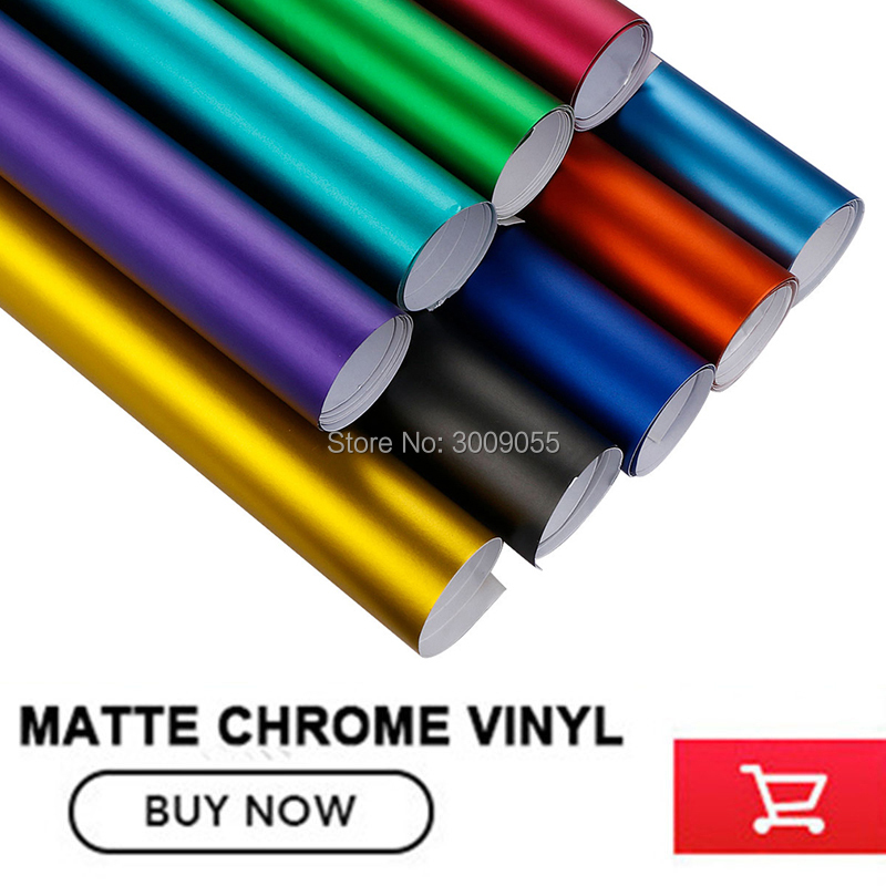 Image 3 - make small profits But quick turnove Car styling Matte Chrome Ice Vinyl Film  Matte Chrome Vinyl Wrap Auto film any size-in Car Stickers from Automobiles & Motorcycles