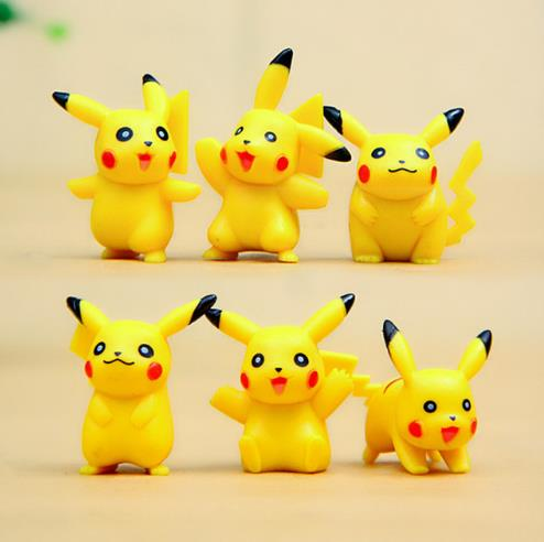 <font><b>New</b></font> 6pcs/lot <font><b>Go</b></font> <font><b>Action</b></font> <font><b>Figure</b></font> Model,Cute <font><b>Poke</b></font> Pikachu <font><b>Figure</b></font> Toys, <font><b>Poke</b></font> <font><b>Go</b></font> <font><b>Anime</b></font> Brinquedos, Kids Toys
