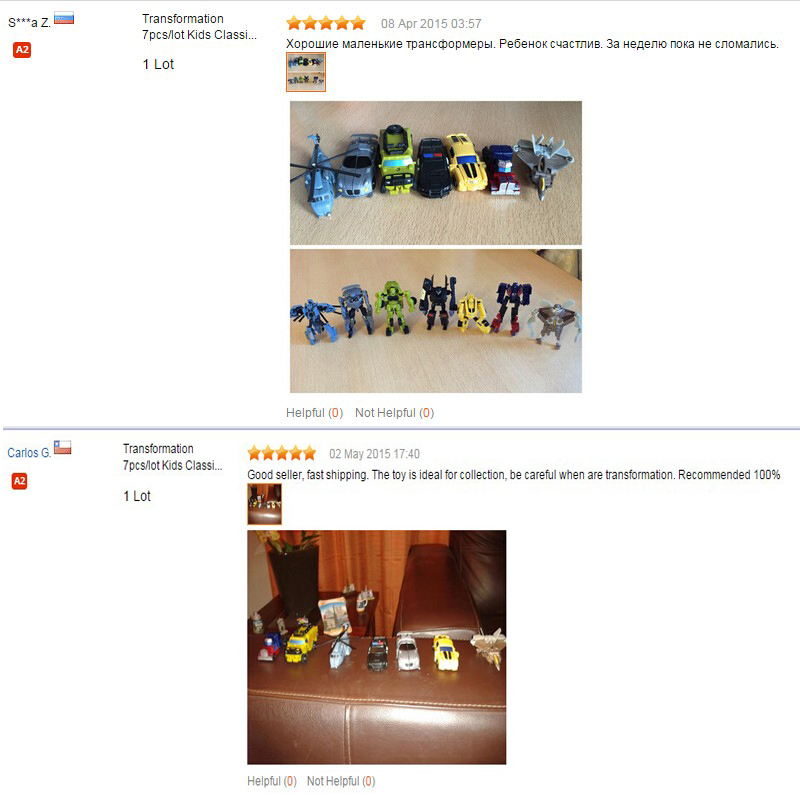 Caja al por menor 7 unids / set Transformation Kids Classic Robot - Figuritas de juguete - foto 6