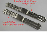 13mm L960 110 T60 14mm L975 110 New Watch Parts Male Solid Stainless Steel Bracelet Strap