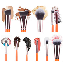 RANCAI 10pcs/lot Wooden Makeup Brush Foundation Cosmetic Eyebrow Eyeshadow Sets Tools pincel maquiage