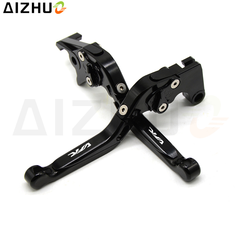Laser VFR Motorcycle Clutch Brake Lever CNC Aluminum Adjustable Levers For Honda VFR800 VFR800F VFR750 VFR