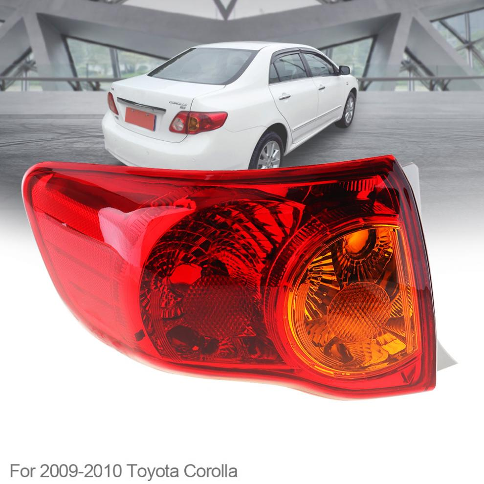 Waterproof Durable Auto Car Rear Brake Lamp Outer Left Passenger-side Tail Left Light Bulb for 2008 2009 2010 Toyota Corolla oem 8330a396 rear tail light outer brake stop lamp right rh left lh for mitsubishi outlander ex 07 13 car accessories