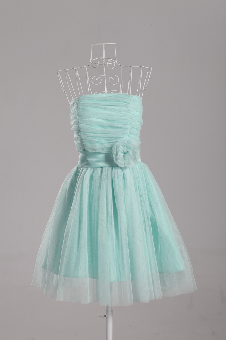 Free Shipping Purple Mint Junior Bridesmaid Dress Short Stretchy ...