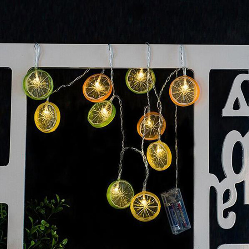 Dcloud Cute Girl Gift Strip String Lights 10 Led Lemon Christmas Fariy Festival Holiday Party Garden Home Decor Gift New Year
