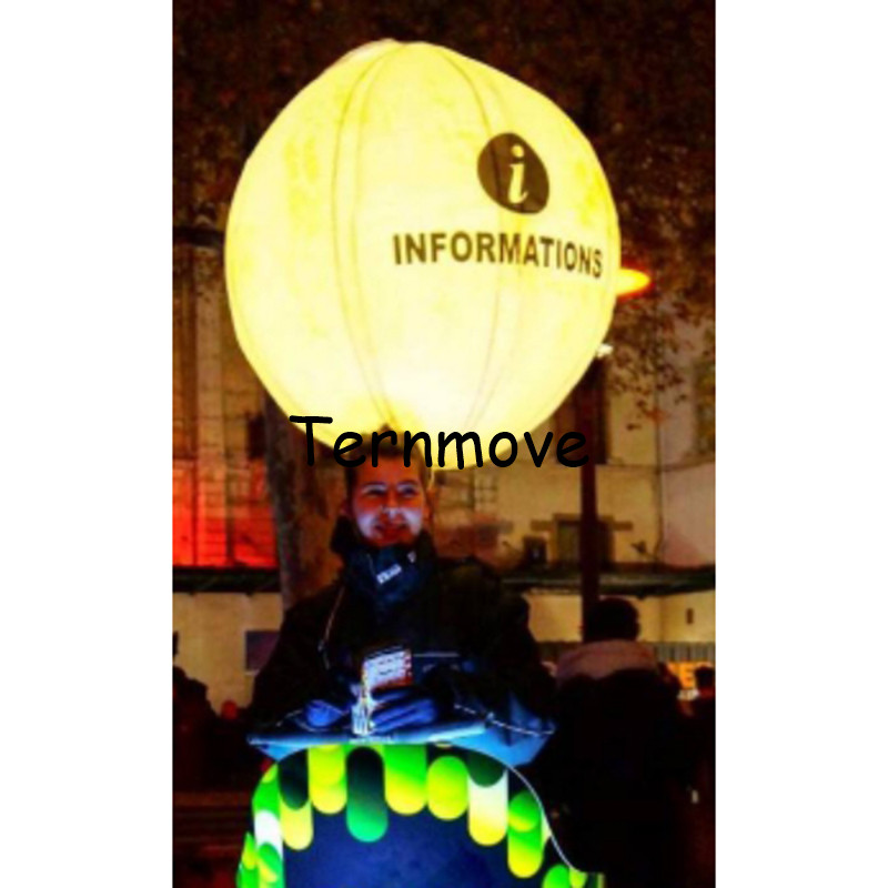 LED Glow Walking Advertising Backpack Balloon Lighted Inflatable Backpack Balloons with RGB Led Light Party DecorationsLED Glow Walking Advertising Backpack Balloon Lighted Inflatable Backpack Balloons with RGB Led Light Party Decorations