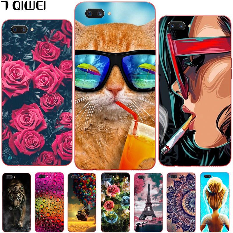 6 2'' For Oppo A3S Case Silicone Soft TPU Phone Case For Oppo A3S A 3S /  Oppo A5 Case Cover OPPOA5 Painting Thin Para Animal