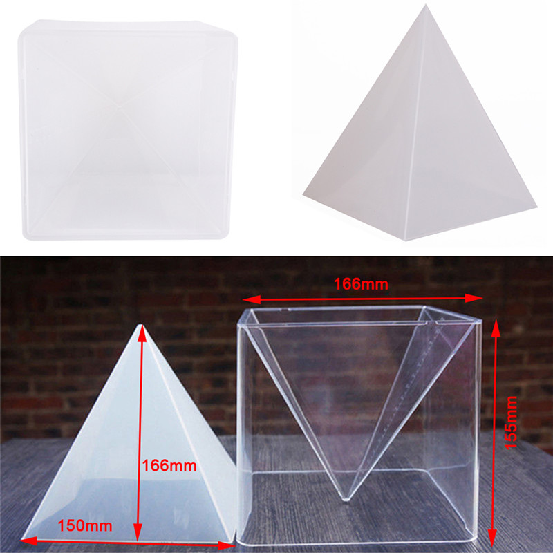 купить Pyramid Silicone Mould For DIY Decorative Craft Jewelry Resin Necklace Pendant Mold 10*15cm онлайн