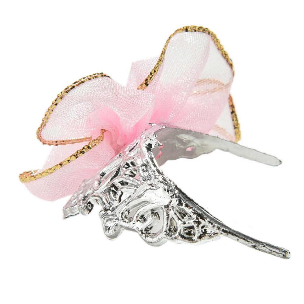 Пластмассовая Серебряная корона для девочек повязка на голову аксессуары для головных уборов для кукольных игрушек новое поступление