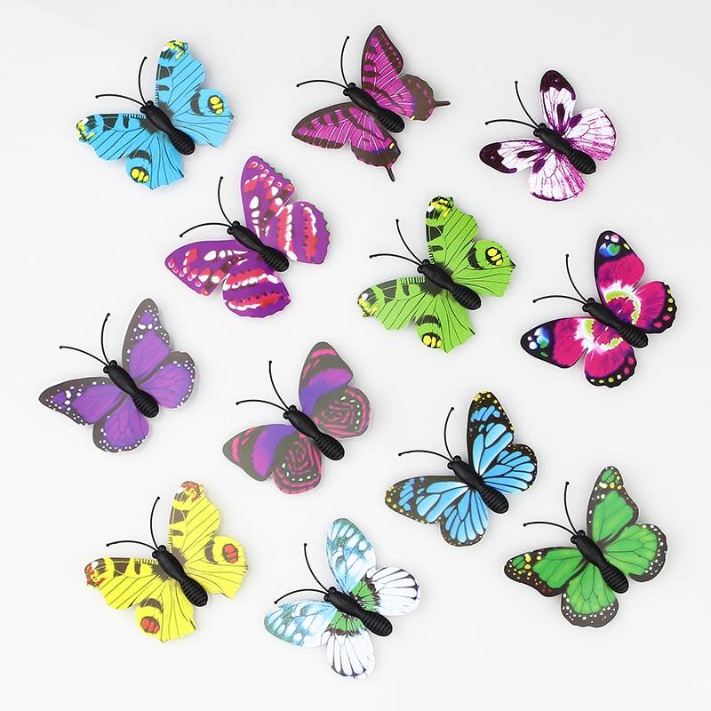 Hot sale 100 Pieces 3D PVC Artificial Butterfly Decor For ...