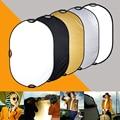 """5 en 1 80x120 cm 31 """"* 47"""" Estudio Fotográfico y Fotografía Al Aire Libre de Iluminación Portátil Manija redonda Plegable de Disco Light Reflector"""