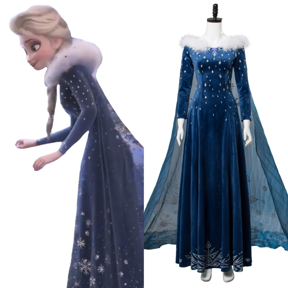 buy hot movue olaf 39 s froze adventure princess elsa dress cosplay costume adult