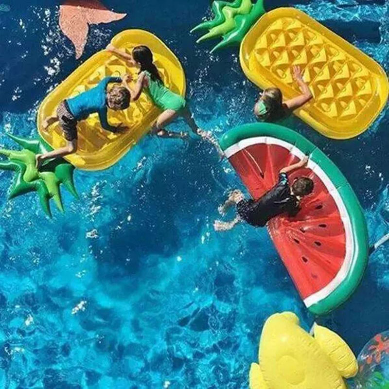 Watermelon 180CM Inflatable Float Air Mattress Swim Ring Pool Float Toys Adults Children Holiday Hawaii Summer Party Decoration in Swimming Rings from Sports Entertainment