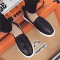 NEW 2016 Brand men's Loafers Flats Shoes male Casual Slip on solid leather men Shoes