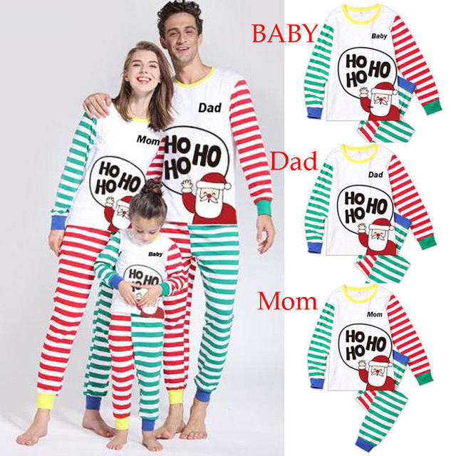 a4eab1647e Christmas Family Matching Outfits Pajamas Sets Kid Mom Father Xmas Deer  Sleepwear Nightwear Brother Sister Baby Clothing