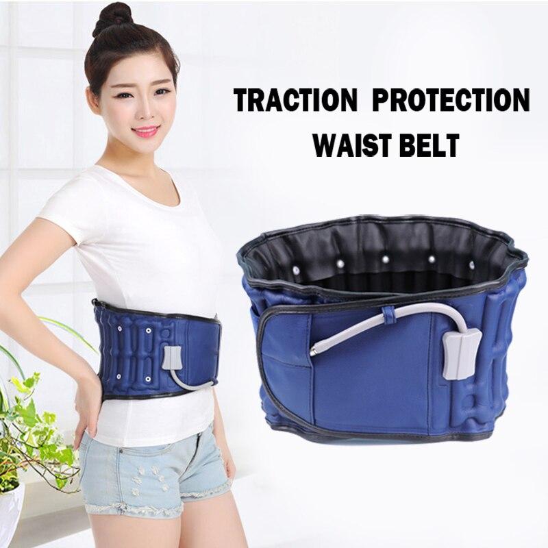 Waist Support Back Relief Belt Lumbar Traction Backach Waist Health Massager Parent Bone Care Inflatable Brace Massage Band
