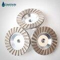 Бесплатная доставка  3 шт.  4 дюйма  грубая #/средняя #/тонкая # Алмазная алюминиевая чашка для корпуса  колеса 100 мм для шлифования бетона и камн...