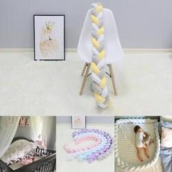 1 шт. 1 м/2 м/3 м Детские ручной работы Nodic узел новорожденный кровать бампер длинный завязанный коса подушка для детской кроватки бампер узел