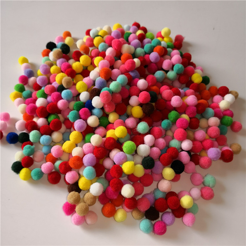 Pompom 10mm Multicolor Fur Plush Ball for Craft DIY Soft Wedding Wreath Home Decoration Garment Sewing on Cloth Toys Accessories in Artificial Dried Flowers from Home Garden