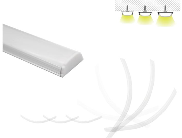polegada flexível led do canal, o perfil