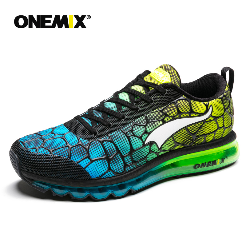 Hot onemix 2017 Mænd Air Løbesko Outdoor Sportssko Åndbar Mesh Walking Sneakers Lightweight Pustende Athletic Shoes