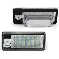 CARCHET 2PCS White 6500K 18LEDs 3528 SMD License Plate Lights Lamps For AUDI A3 8P A6
