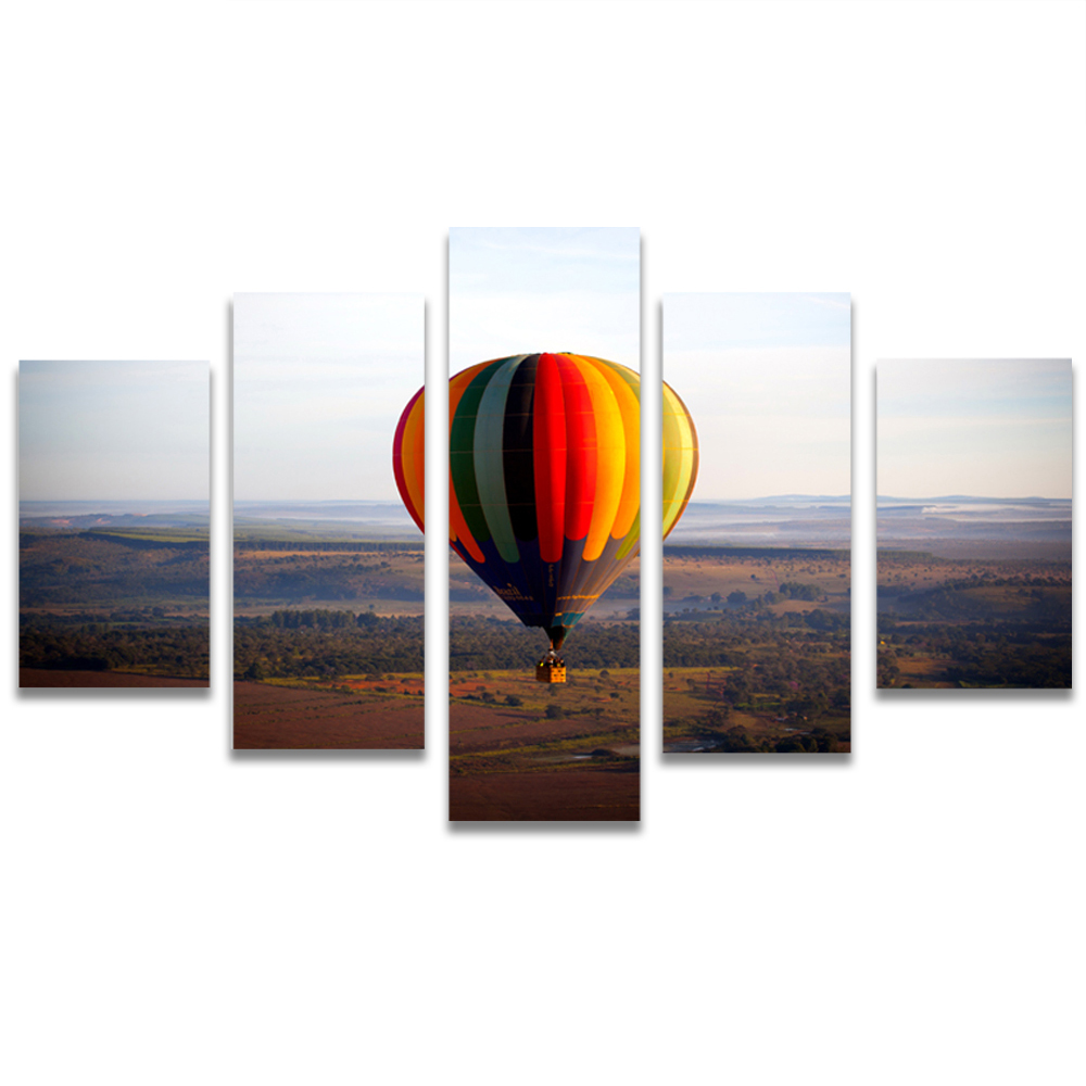 Unframed Canvas Painting Colored Hot Air Balloon Photo Picture Prints Wall Picture For Living Room Wall Art Decoration