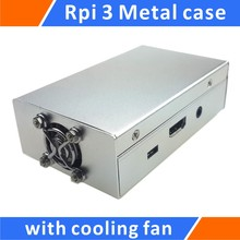 Discount! Raspberry Pi 3 and Raspberry Pi 2 /B+ Metal Case with Cooling Fan Silver