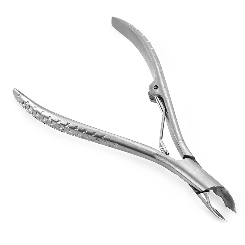 1pcs Professional Stainless Steel Dead Skin Pliers Paronychia Scissors Pedicure Knife Non slip Handle Nail Trimmer Tool in Cuticle Scissors from Beauty Health