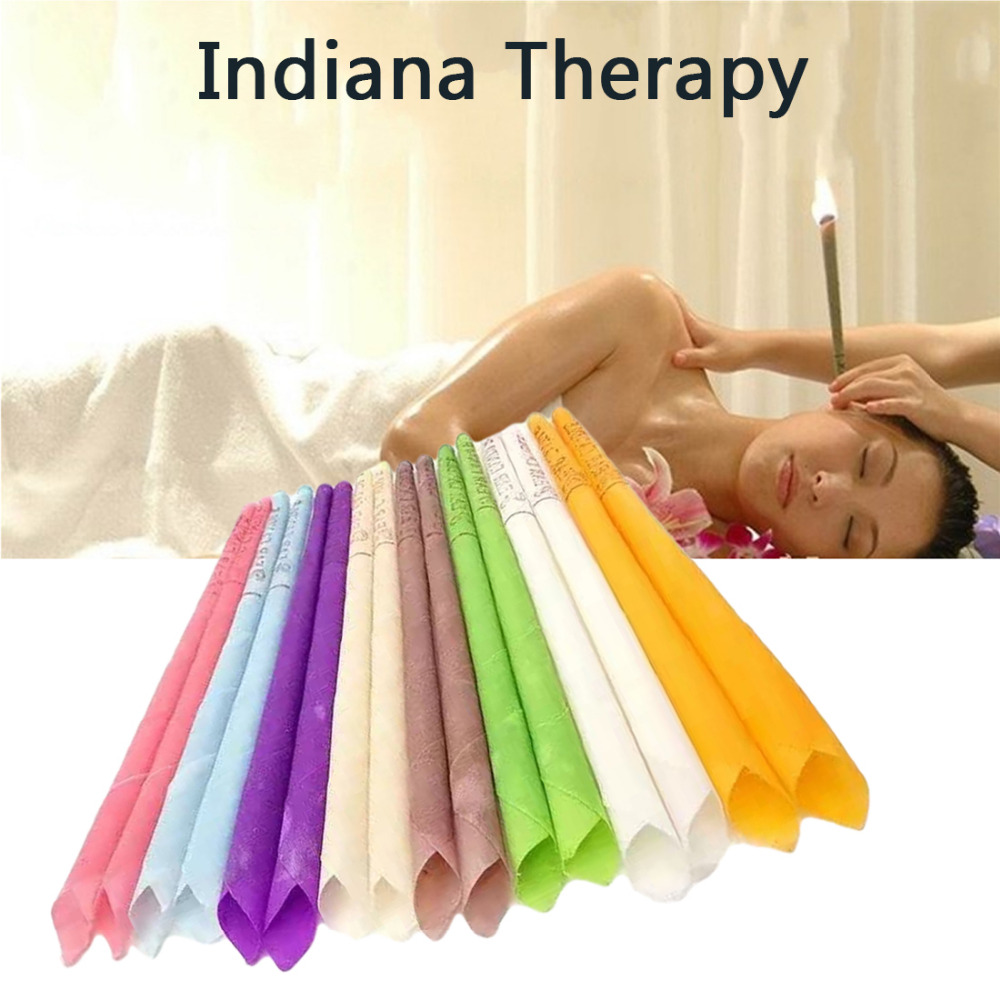 10pcs Ear Candles Healthy Care Ear Aromatherapy Treatment Ear Wax Removal Cleaner Ear Coning Indiana Therapy Fragrance Candling